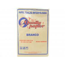 PAPEL TOALHA 1000 FL 23X21 BRANCO QUALLY