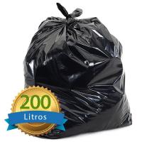 SACO P/LIXO 200LT PRETO MICRA 0,06 COM 100 UNIDADES