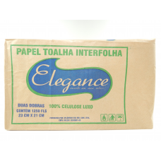 PAPEL TOALHA 1250 FOLHAS 21X23 ELEGANCE 100% CELULOSE LUXO