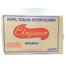 PAPEL TOALHA 1000 FOLHAS BRANCO 23X21 ELEGANCE