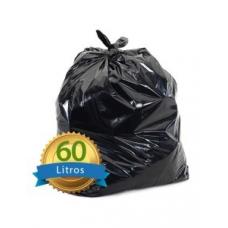 SACO P/LIXO 60LT PRETO MICRA 0,7 MICRA 06 COM 100 UNIDADES