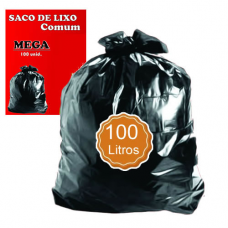 SACO P/LIXO 100LT PRETO COMUM MEGA