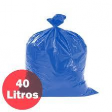 SACO P/LIXO 40LT AZUL ALTA FUNDO ESTRELA COM 100 UNIDADES