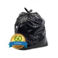 SACO P/LIXO 60LT PRETO 57X70 MICRA 0,3 COM 100 UNIDADES